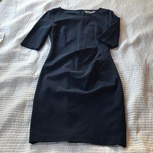 Slate blue ruched dress